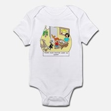Does the doctor work on cats? Infant Bodysuit