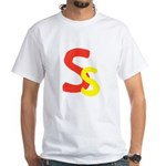 S is for Super White T-Shirt