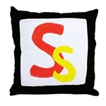 S is for Super Throw Pillow