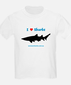 Kids 'I Love Sharks' T-Shirt