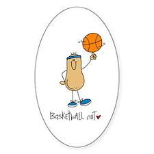 Basketball Nut Oval Decal