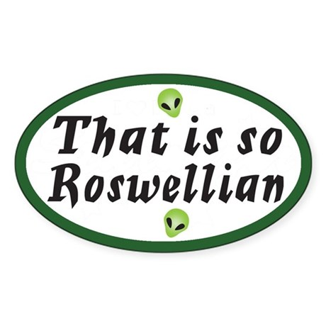 General Roswell Oval Sticker