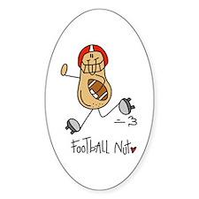 Football Nut Oval Decal