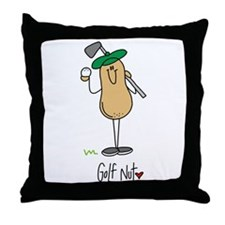 Golf Nut Throw Pillow