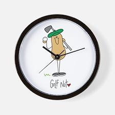 Golf Nut Wall Clock