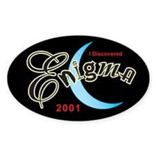 Roswell Enigma Oval Decal