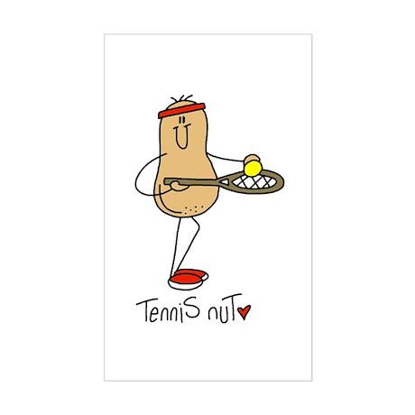 Tennis Nut Rectangle Sticker