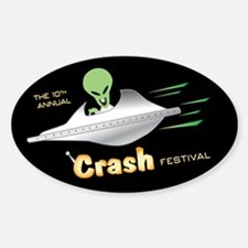 Roswell Crash Festival Oval Decal