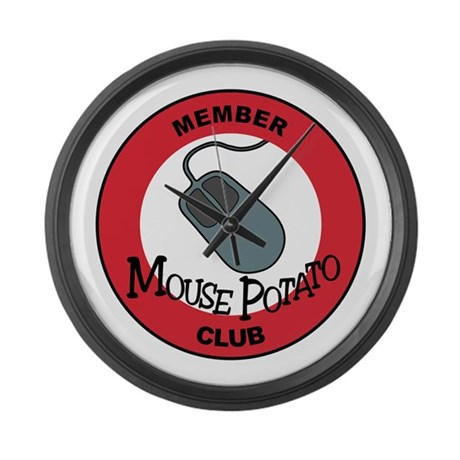 Mouse Potato Club Large Wall Clock