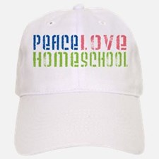 Peace Love Baseball Baseball Cap