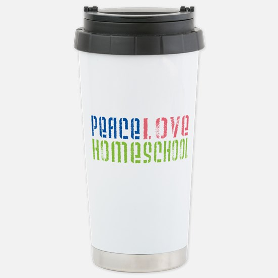 Peace Love Stainless Steel Travel Mug