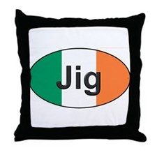 Jig Oval - Throw Pillow