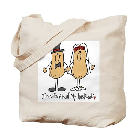 Nuts About My Husband Tote Bag