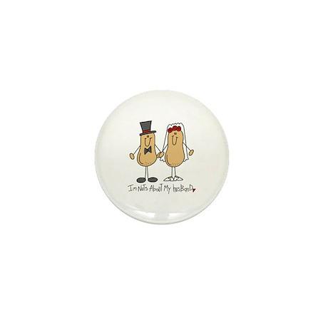 Nuts About My Husband Mini Button