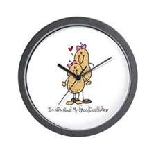 Nuts About My Granddaughter Wall Clock