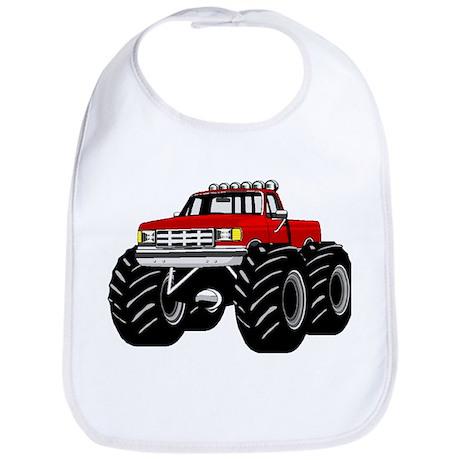 Red MONSTER Truck Bib