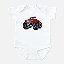Red MONSTER Truck Infant Bodysuit
