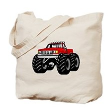 Red MONSTER Truck Tote Bag