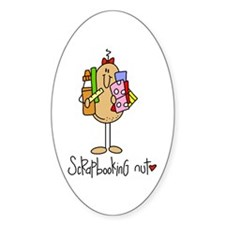 Scrapbooking Nut Oval Decal