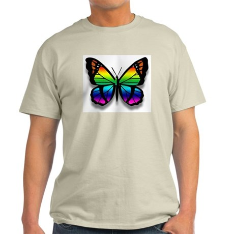 Ash Grey Butterfly T-Shirt