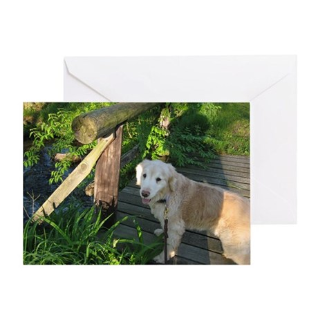 Gracie Golden Greeting Card