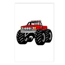 Red MONSTER Truck Postcards (Package of 8)
