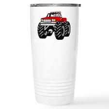 Red MONSTER Truck Travel Mug