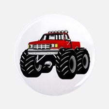 "Red MONSTER Truck 3.5"" Button"