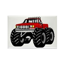 Red MONSTER Truck Rectangle Magnet
