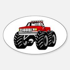 Red MONSTER Truck Sticker (Oval)