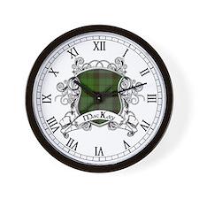 MacKay Tartan Shield Wall Clock
