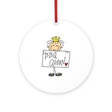 Barbecue Queen Ornament (Round)