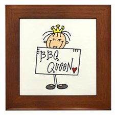 Barbecue Queen Framed Tile