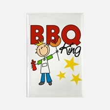 Barbecue King Rectangle Magnet