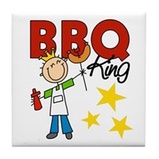 Barbecue King Tile Coaster