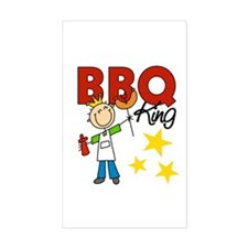 Barbecue King Rectangle Decal