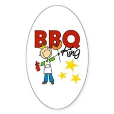 Barbecue King Oval Decal