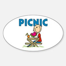 Picnic Oval Decal