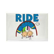 Roller Coaster Ride Rectangle Magnet