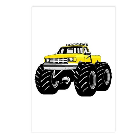 Yellow MONSTER Truck Postcards (Package of 8)
