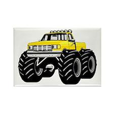Yellow MONSTER Truck Rectangle Magnet
