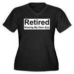 Retirement Women's Plus Size V-Neck Dark T-Shirt