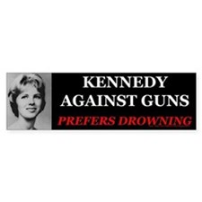 Kennedy Against Guns Bumper Bumper Sticker