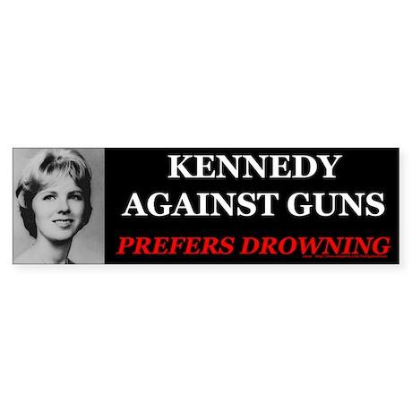 Kennedy Against Guns Bumper Sticker