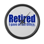 Retirement Large Wall Clock