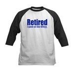 Retirement Kids Baseball Jersey