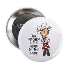 """Kitchen Is The Heart 2.25"""" Button"""