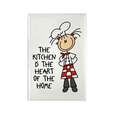 Kitchen Is The Heart Rectangle Magnet (100 pack)