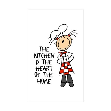 Kitchen Is The Heart Rectangle Sticker 50 pk)