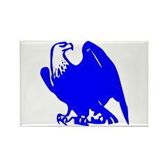Blue Bald Eagle Rectangle Magnet (10 pack)